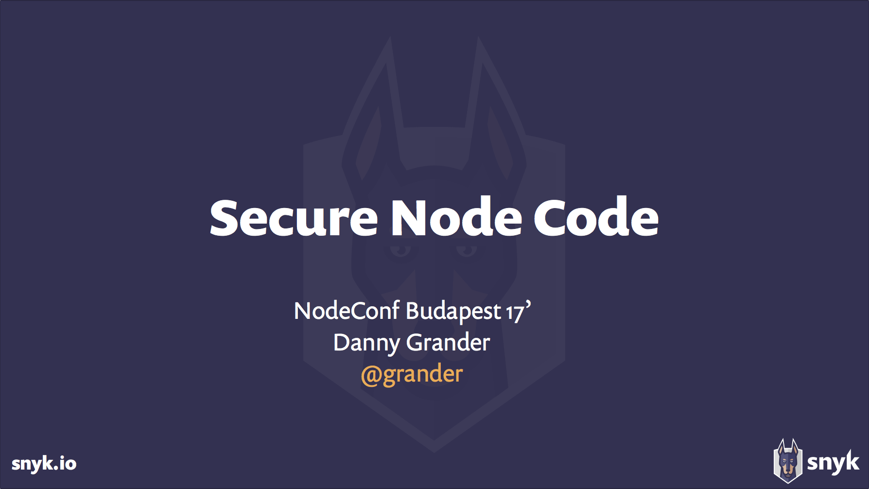 Writing Secure Node js Code - Danny Grander | @RisingStack